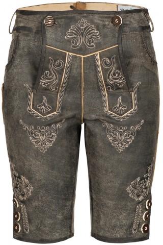 Wertige Damen Trachtenhose Knielang 100% Leder/Antik Vintage Optik