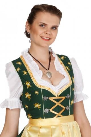 3tlg. Dirndl Traditionelles mit Schürze und Bluse